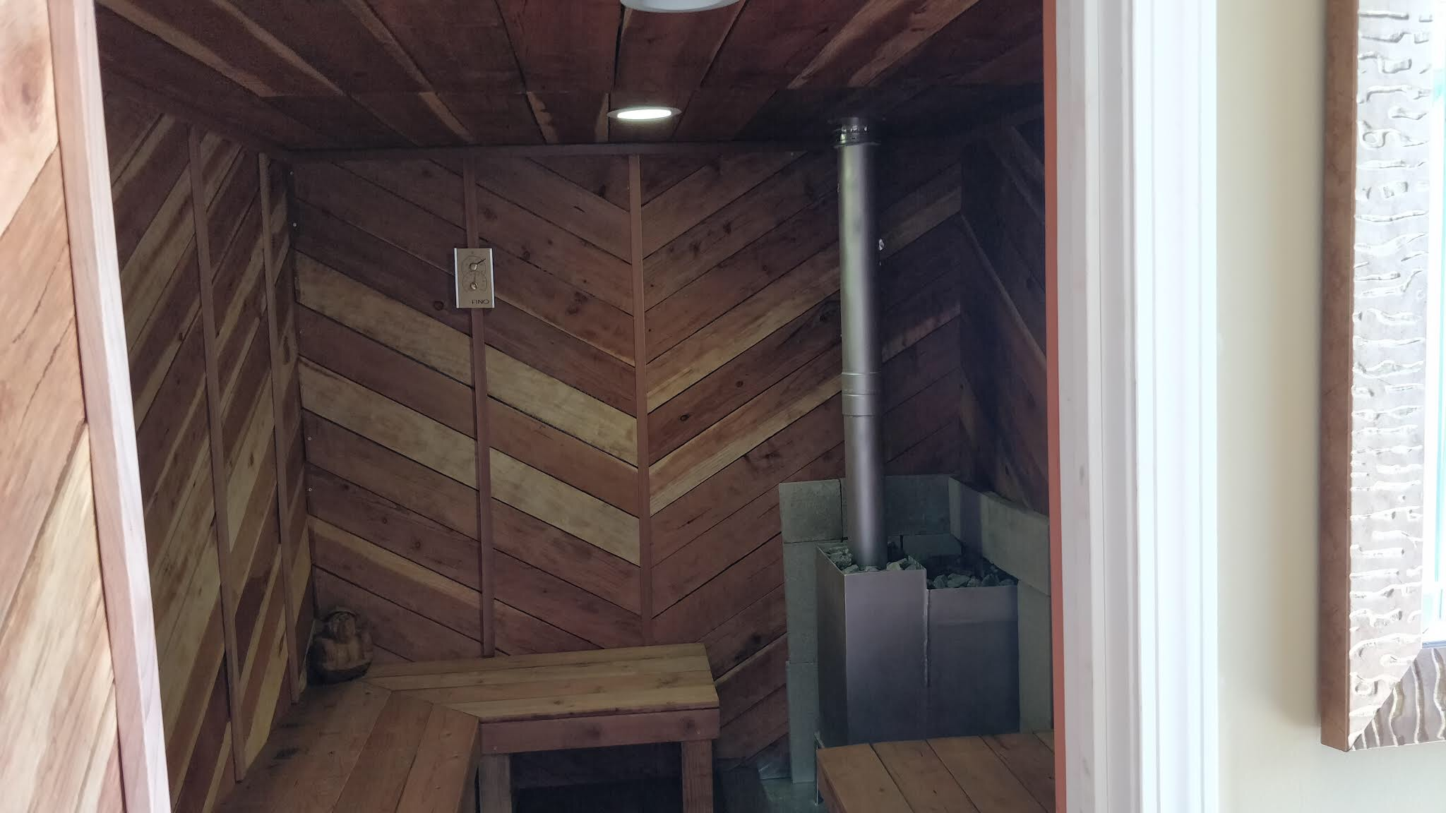 Shipping Container sauna conexwest the saunex
