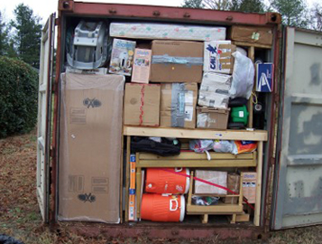packing a shipping container for a long move