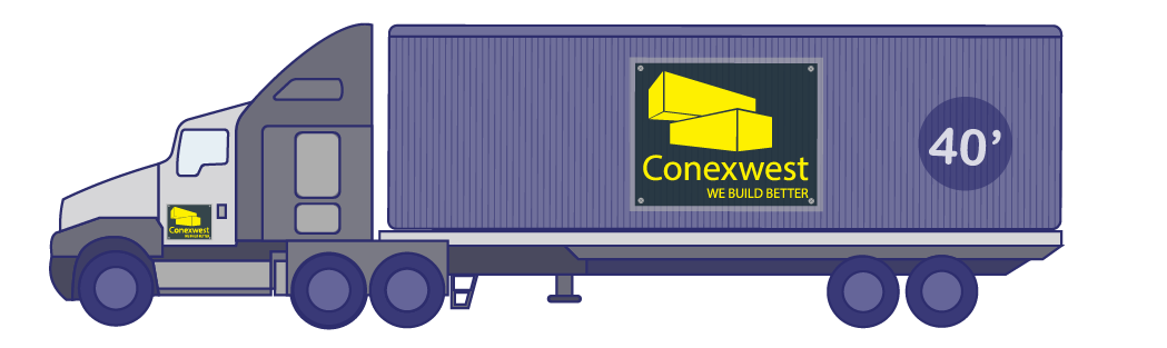 flatbed container delivery