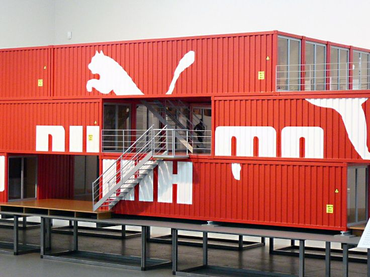 shipping container pop up shop by puma