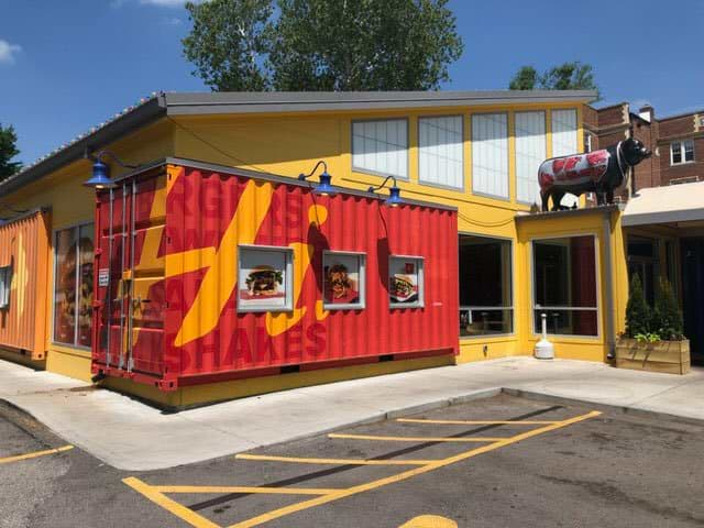 Custom shipping container restaurant