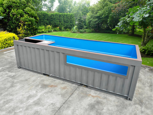 shipping container swimming pools conexwest cut storage container